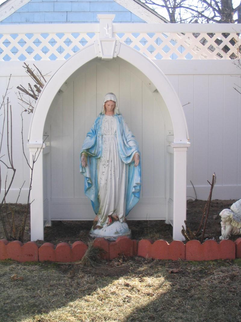 Go Vinyl Fence Special Projects. Large Garden Statues Art Religious Virgin  Mary Sculpture. Large Garden Statues Art Religious Virgin Mary Sculpture